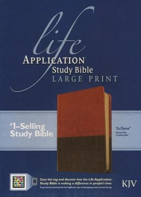 Life Application Study Bible KJV large print brown & tan indexed  -
