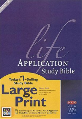 NKJV Life Application Study Bible. Large Print Hardcover  -