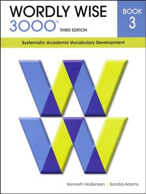 Wordly Wise 3000 Student Book Grade 3, 3rd Edition   -     By: Kenneth Hodkinson, Sandra Adams