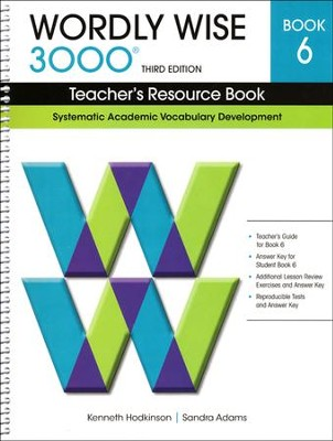Wordly Wise 3000 Teacher's Resource Bk 6, 3rd Edition   -     By: Kenneth Hodkinson, Sandra Adams