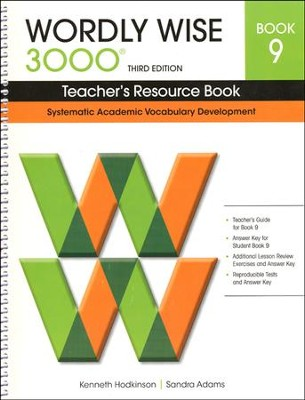 Wordly Wise 3000 Teacher's Resource Book 9, 3rd Edition   -     By: Kenneth Hodkinson, Sandra Adams