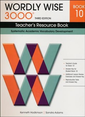 Wordly Wise 3000 Teacher's Resource Book 10,  3rd Edition  -
