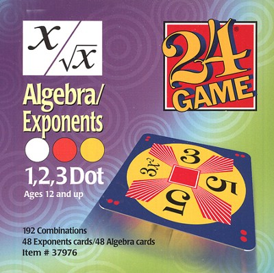 24 Game: Algebra & Exponents (96 Cards)  -