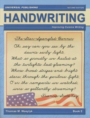Cursive Writing-Book E, 2nd Edition Grade 4  -     By: Thomas M. Wasylyk