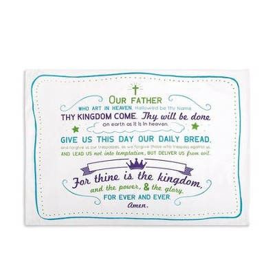 The Lord's Prayer Pillowcase  -