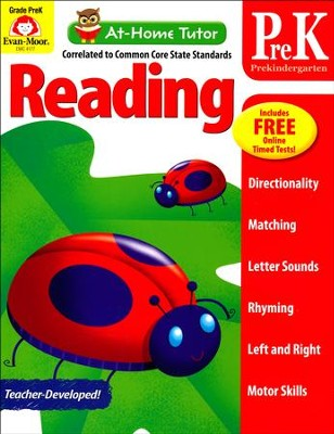 At-Home Tutor: Reading, Grade Pre-K     -