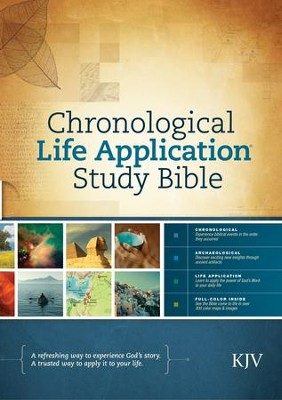 KJV Chronological Life Application Study Bible, Hardcover  -