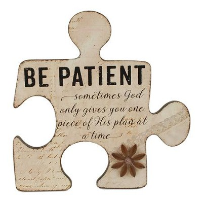 Be Patient Puzzle Piece Art  -     By: Barbara Lloyd