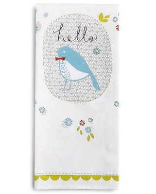 Hello Tea Towel and Greeting Card  -