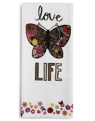 Love Life Tea Towel and Greeting Card  -