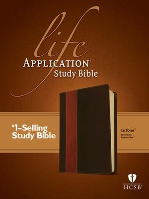 HCSB Life Application Study Bible TuTone leatherlike brown/tan  -