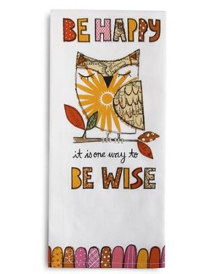 Be Happy Tea Towel and Greeting Card  -