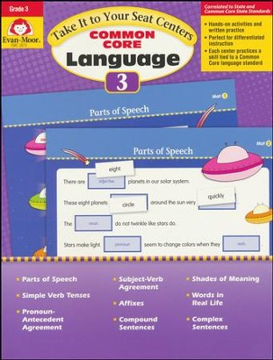 Take It to Your Seat Common Core Language Centers,  Grade 3  -