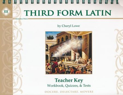 Third Form Latin, Workbook and Test Key    -