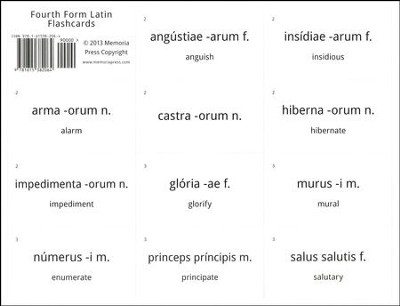 Fourth Form Latin Flash Cards  -     By: Cheryl Lowe, Michael Simpson