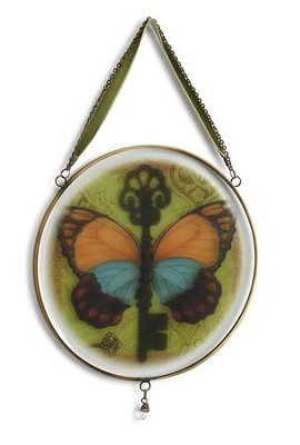 Butterfly Key Glass Window Art  -     By: Susan Winget