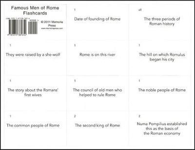 Famous Men of Rome Flashcards  -