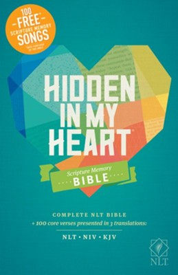 NLT Hidden in My Heart Scripture Memory Bible, Hardcover  -     By: Stephen Elkins