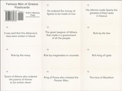 Famous Men of Greece Flashcards   -     By: John H. Haaren, Addison B. Poland