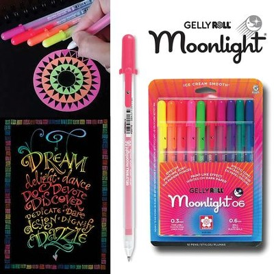 Gelly Roll Moonlight Bold Pen Set, Pack of 10  -