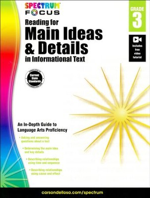 Spectrum Reading for Main Ideas and Details in Informational Text, Grade 3  -
