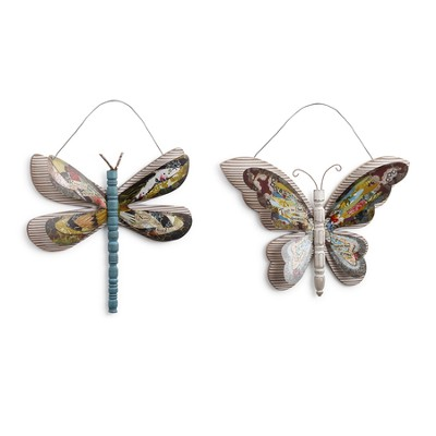 Dragonfly & Butterfly Wall Art, Set of 2  -     By: Kelly Rae Roberts