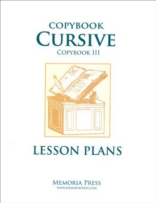 Copybook Cursive: Scripture & Poems Lesson Plans   -