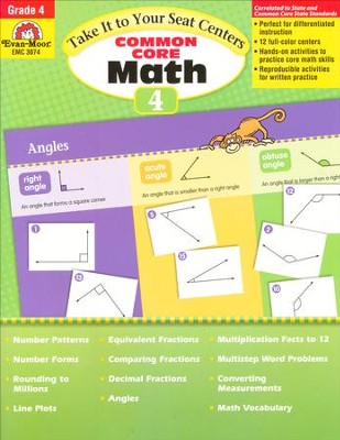 Take It to Your Seat Centers: Common Core Math, Grade 4   -