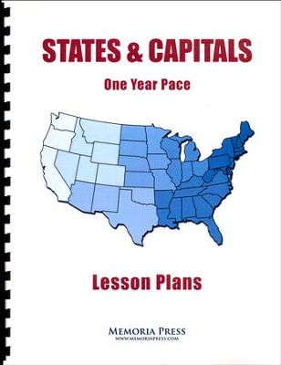 States & Capitals 1 Year Pace Lesson Plans   -