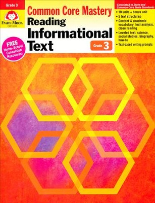 Reading Informational Text: Lessons for Common Core  Mastery, Grade 3  -