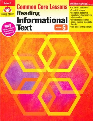 Reading Informational Text: Lessons for Common Core Mastery, Grade 5  -