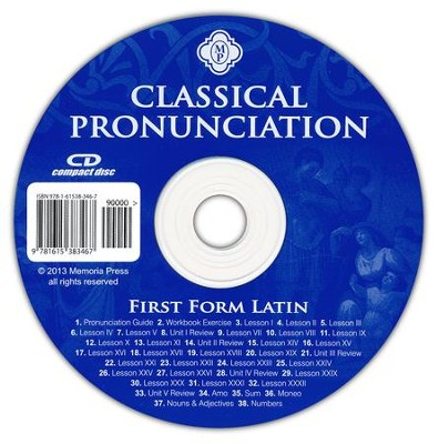 First Form Latin Classical Pronounciation CD  -