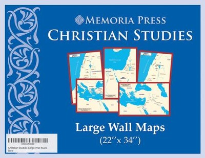 Christian Studies, Large Wall Maps, 5 Maps  -
