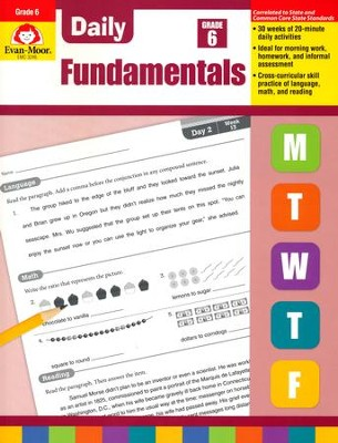 Daily Fundamentals, Grade 6   -