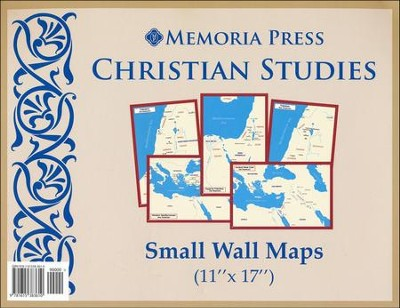 Christian Studies, Small Wall Maps, 5 Maps  -