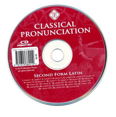 Second Form Latin Classical Pronunciation CD   -
