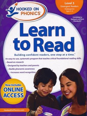 Hooked on Phonics Learn to Read - Level 3: Emergent Readers (Kindergarten | Ages 4-6)  -     By: Hooked on Phonics