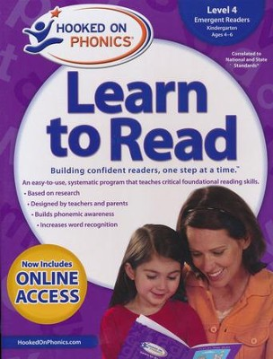 Hooked on Phonics Learn to Read - Level 4: Emergent Readers (Kindergarten | Ages 4-6)  -     By: Hooked on Phonics