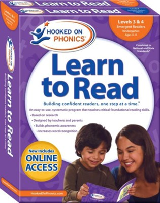 Hooked on Phonics Learn to Read - Levels 3&4 Complete: Emergent Readers (Kindergarten | Ages 4-6)  -     By: Hooked on Phonics
