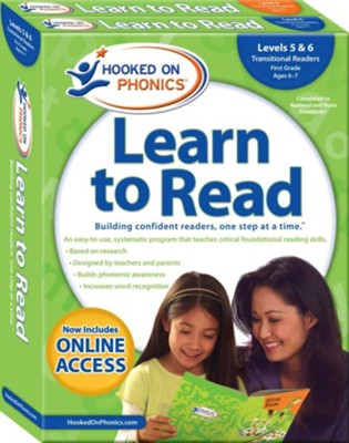 Hooked on Phonics Learn to Read - Levels 5&6 Complete: Transitional Readers (First Grade | Ages 6-7)  -     By: Hooked on Phonics