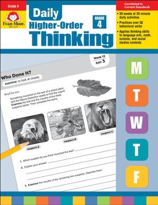 Daily Higher-Order Thinking, Grade 4   -