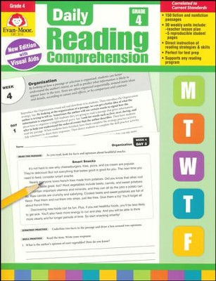 Daily Reading Comprehension, Grade 4 (2018 Revision)   -