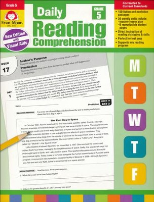 Daily Reading Comprehension, Grade 5 (2018 Revision)   -