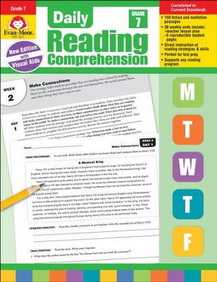 Daily Reading Comprehension, Grade 7 (2018 Revision)   -