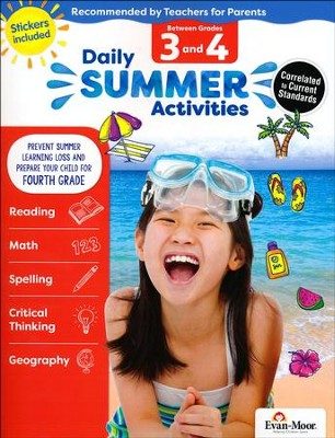 Daily Summer Activities, Moving From Grades 3 to 4 (2018 Revision)  -
