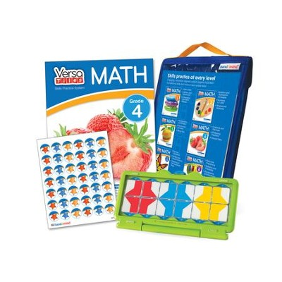 VersaTiles Math Skill Practice Kit Grade 4 (At Home Edition)  -