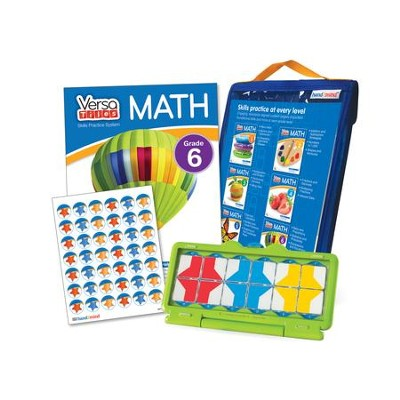 VersaTiles Math Skill Practice Kit Grade 6 (At Home Edition)  -