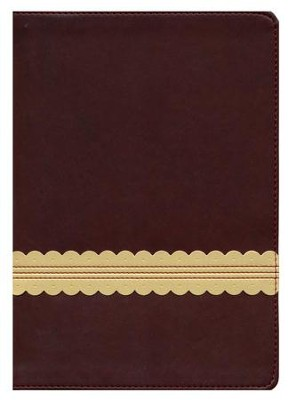 NLT Holy Bible, Giant Print, Wine/Gold Indexed Leatherlike  -
