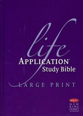 NKJV Life Application Study Bible Large Print Indexed Hardcover  -
