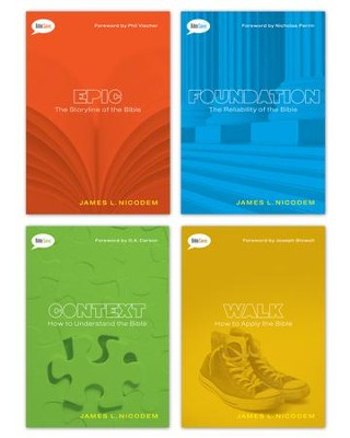 Bible Savvy Set of 4 books / New edition - eBook  -     By: James Nicodem